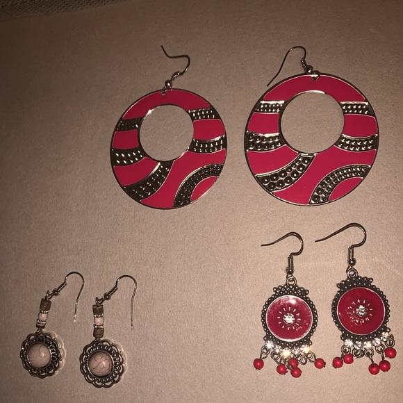 3 Pairs Paparazzi Earrings
